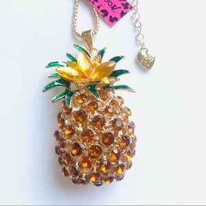 HUGE Brown Crystal Pineapple Necklace